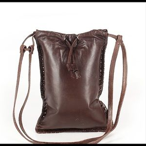 Tano Brown Leather Crossbody